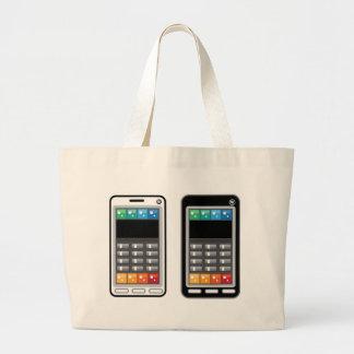 Teléfono elegante bolsa tela grande