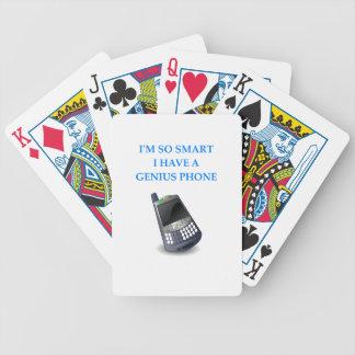 teléfono elegante cartas de juego