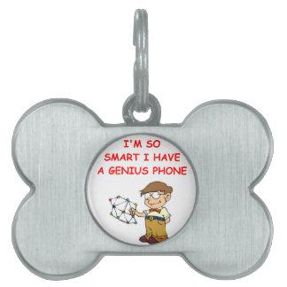 teléfono elegante placa mascota
