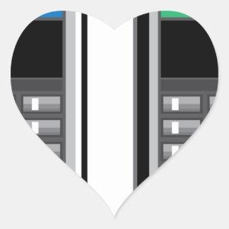 Teléfono elegante pegatina en forma de corazón
