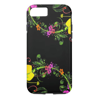 Teléfono floral - caja del teléfono funda iPhone 7