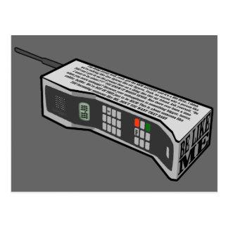 teléfono móvil 80s con el texto postal