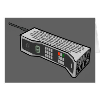 teléfono móvil 80s con el texto tarjeta de felicitación