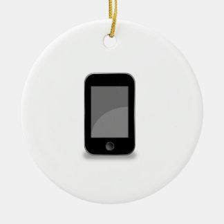 Teléfono móvil adorno navideño redondo de cerámica