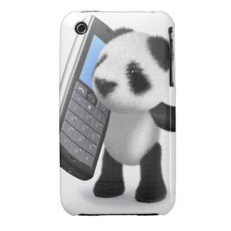 teléfono móvil de la panda del bebé 3d Case-Mate iPhone 3 fundas