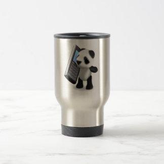 teléfono móvil de la panda del bebé 3d tazas de café