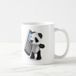 teléfono móvil de la panda del bebé 3d taza de café