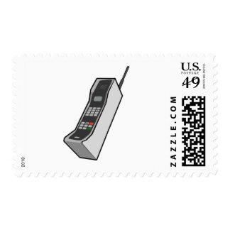 teléfono móvil de los años 80 sellos