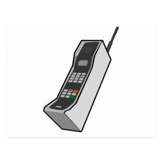 teléfono móvil de los años 80 tarjeta postal
