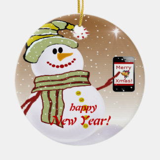 Teléfono móvil del muñeco de nieve ornamentos de reyes