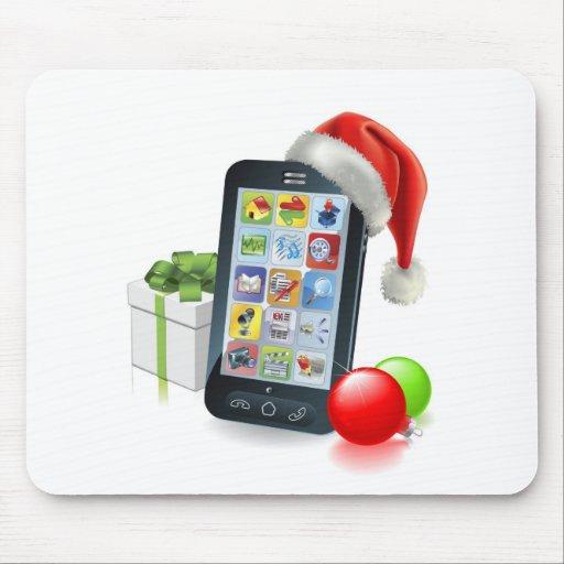 Teléfono móvil del navidad mousepads