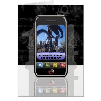Teléfono móvil, mensaje de texto del teléfono tarjeta de felicitación
