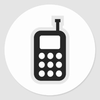 Teléfono móvil pegatina redonda