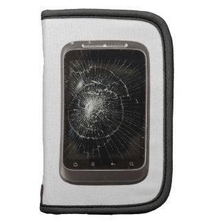 Teléfono móvil quebrado organizadores