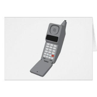 Teléfono móvil - teléfono retro del vintage del te felicitación