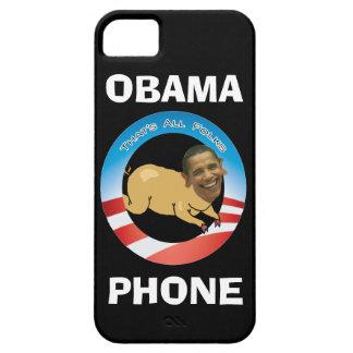 Teléfono negro de Obama iPhone 5 Fundas