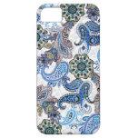 teléfono Paisley-Blackberry-Samsung funda-azul iPhone 5 Carcasas
