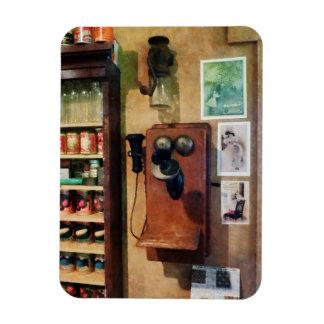 Teléfono pasado de moda iman de vinilo