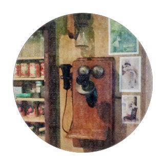 Teléfono pasado de moda tablas para cortar