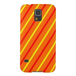 Teléfono rayado amarillo, rojo, anaranjado funda para galaxy s5