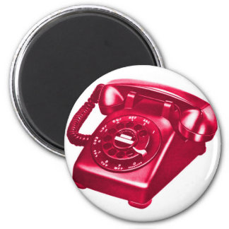 Teléfono retro del kitsch del vintage el teléfono  iman de frigorífico