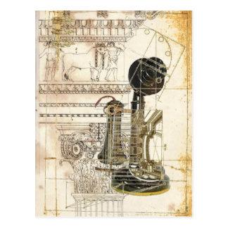 Teléfono retro del vintage elegante tarjeta postal