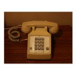 Teléfono retro del vintage postal