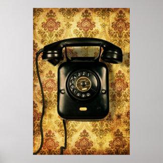 Teléfono retro poster