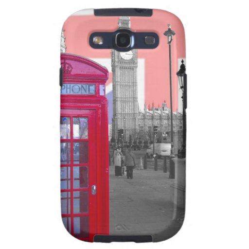 Teléfono rojo Big Ben Samsung Galaxy S3 Fundas