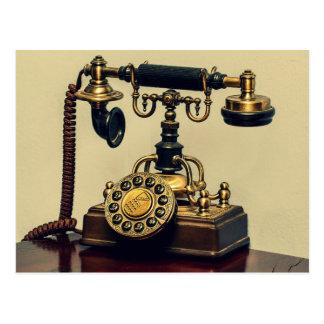 Teléfono rotatorio de cobre amarillo del teléfono postales