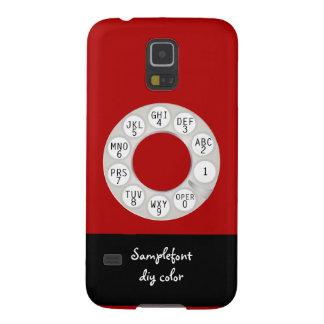 Teléfono rotatorio de PixDezines/fondo blanco de Carcasas Para Galaxy S5