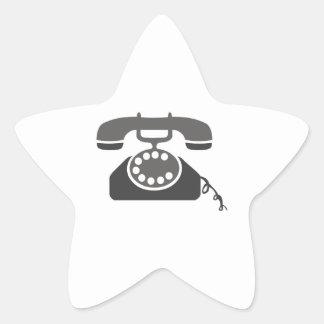 Teléfono rotatorio pegatina en forma de estrella