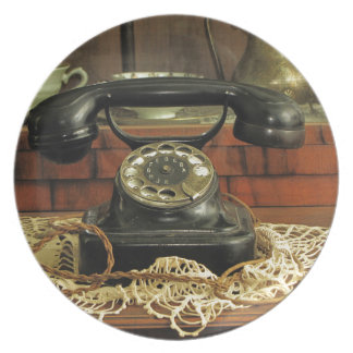Teléfono rotatorio platos de comidas