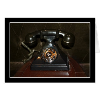 Teléfono viejo de la terminal de marcado manual de