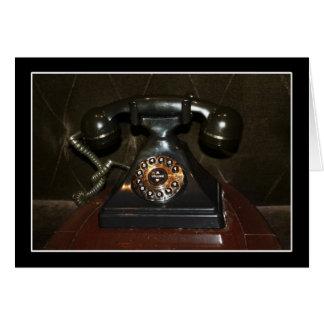 Teléfono viejo de la terminal de marcado manual de tarjetón