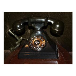 Teléfono viejo de la terminal de marcado manual de postales
