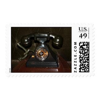 Teléfono viejo de la terminal de marcado manual sello