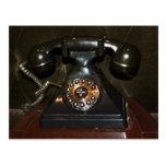 Teléfono viejo de la terminal de marcado manual postal