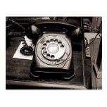Teléfono viejo postal