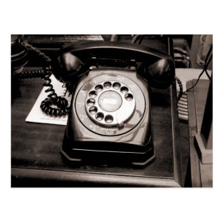 Teléfono viejo postales