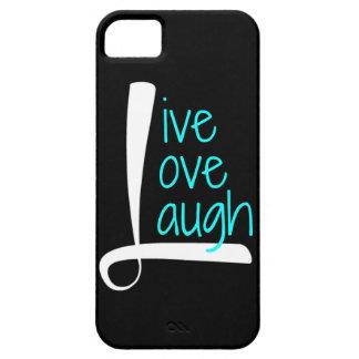 Teléfono vivo, blanco y aguamarina de la risa del iPhone 5 fundas