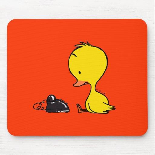 Teléfono y pato tapetes de ratón