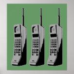 Teléfonos celulares de la escuela vieja poster