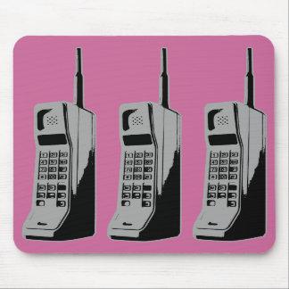Teléfonos celulares de la escuela vieja alfombrillas de ratones