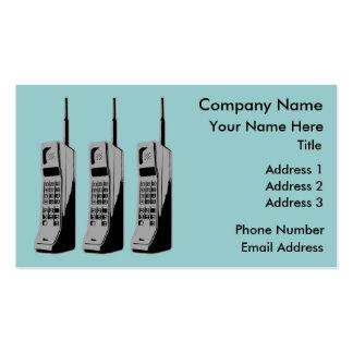 Teléfonos celulares de la escuela vieja tarjetas de visita