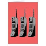 Teléfonos celulares de la escuela vieja tarjetas