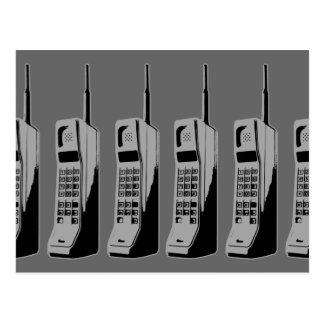 Teléfonos celulares de la escuela vieja tarjetas postales