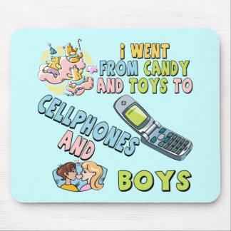 Teléfonos móviles y camisetas y regalos de los muc tapetes de ratones
