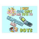 Teléfonos móviles y camisetas y regalos de los muc tarjeta postal