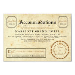 Telegram Hotel Accommodation Travel Insert Card